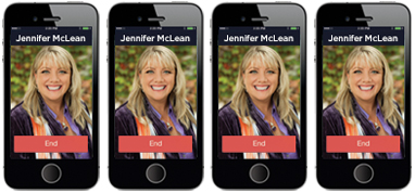 Interact with Jennifer on your phone